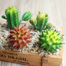 green plastic artificial cactus plants fake succulents for home