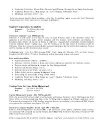 web services resume varghese paul 12 5 years individual contributor resume