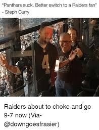 panthers suck better switch to a raiders fan steph curry raiders
