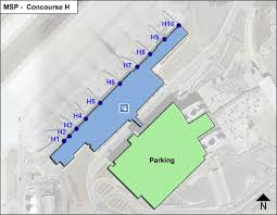 msp airport terminal map minneapolis st paul airport msp concourse h map