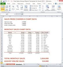 Excel Sales Report Template Free Sales Annual Report Template For Excel 2013