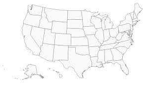 empty usa map blank usa map with thick black borders free printables united