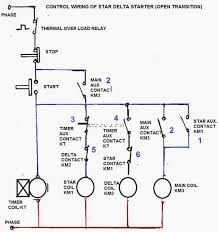 3 phase motor connection star delta without timer control diagrams