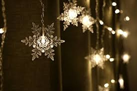 coobl 16 snowflake 104 leds curtain string lights