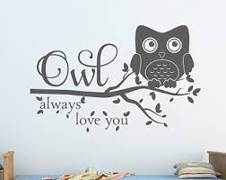Owl Wall Decor by Owl Wall Decal Etsy