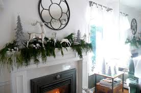 evergreen garland mantel decor christmas inspiration ideas