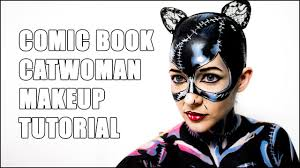 catwoman comic style cel shade halloween makeup tutorial youtube