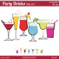 summer cocktail party clipart 25