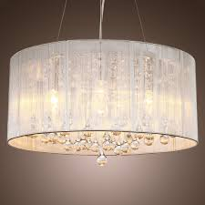 Glass Droplet Ceiling Light by Lightinthebox Modern Silver Crystal Pendant Light In Cylinder