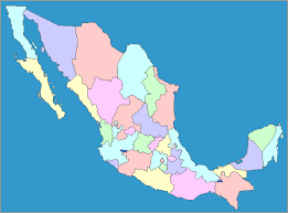 map of mexico with states map of mexico