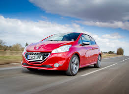 peugeot 208 red peugeot 208 gti uk car of the year awards