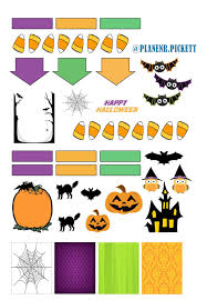 happy halloween banner free printable planner pickett free printables