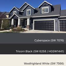 sherwin williams paint colors cyberspace 7076 tricorn black 6258