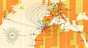 Lan Route Map by The Timetablist Royal Air Maroc Systemwide Route Map April 1976