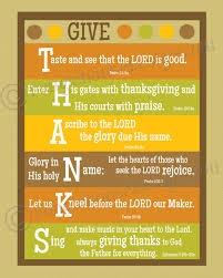 neat idea the verses thanksgiving
