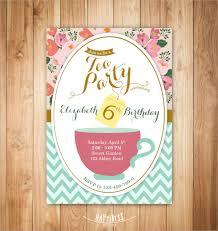 21 sample tea party invitations psd vector eps
