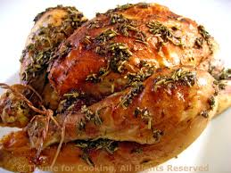 roasted cornish hens poussin with wine thyme for