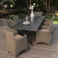 Clearance Patio Dining Set Patio Gray Rectangle Contemporary Wooden Clearance Patio Dining