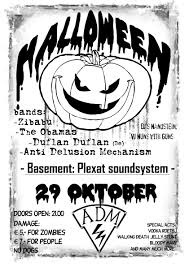 adm halloween party poster by scaven on deviantart