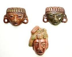 wall masks aztec mayan wall masks 6 1 8 h 4 h 4 7 8 h set of 3 ebay