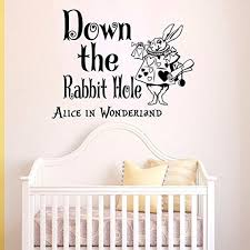 wall decals vinyl sticker down the rabbit hole alice in wonderland wall decals vinyl sticker down the rabbit hole alice in wonderland quote kitchen nursery baby kids children room decal home decor murals bedroom studio dorm