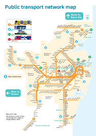 sydney australia map official map transport network map of transit maps