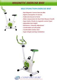 Comfortable Exercise Bike Real Magnetic Control Exercise Bike Bicycle Cycling Sport Gym Fitness