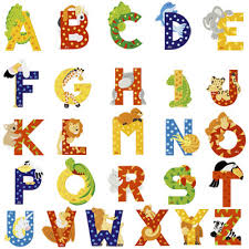lettres pour chambre bébé lettre prenom chambre bebe 16 lettres alphabet zoo sevi
