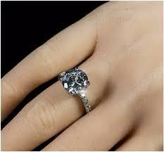 4 carat cubic zirconia engagement rings 3 5 carat cut solitaire engagement cz bridal ring beloved
