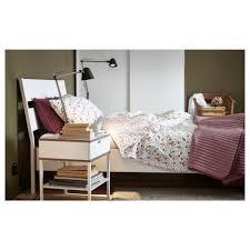 Ikea Schlafzimmer Nachttisch Trysil Bedside Table White Light Grey 45x40 Cm