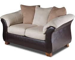 Leather Or Microfiber Sofa by Microfiber Sofa U0026 Loveseat Set W Dark Bonded Leather Base