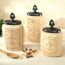 kitchen canisters set of 4 black kitchen canisters kitchen canisters set canister set with