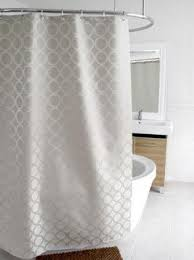 cream fabric shower curtain foter
