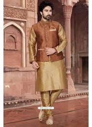 kurta colors buy gold color party wear silk kurta pajama with modi jacket kurta
