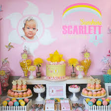 little miss sunshine themed birthday party with such cute ideas