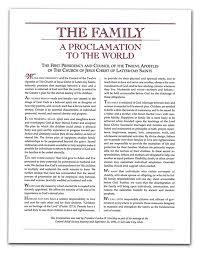 family proclamation a year of fhe year 01 lesson 14 a proclamation to the world