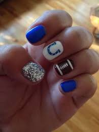 best 25 colts nails ideas on pinterest football nail designs