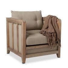 linen chair carbon loft creston beige linen reclaimed finish arm chair free