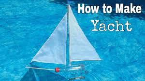 how to make a yacht out of plastic bottle simple toy boat youtube