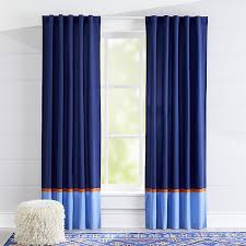 Blue And Orange Curtains Curtains Navy And Light Blue Curtains With Orange Trim
