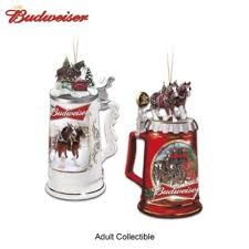 budweiser clydesdales stein ornament collection
