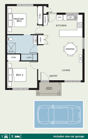 Peninsula Kitchen Floor Plan by Peninsula Two Bedroom Luxury Retirement Villa With One Car