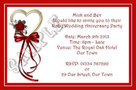 anniversary party invitation cards unique wedding