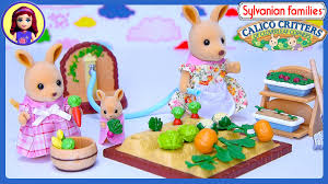 sylvanian families calico critters kangaroo family vegetable