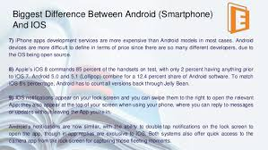 difference between iphone and android android vs ios which is best for student s career
