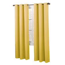 yellow tegan window curtain panel 84 in at home at home
