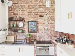 backsplash cool brick kitchen backsplash images home