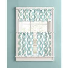 Home Design Diamonds Contemporary Design Aqua Kitchen Curtains Intricate Complete Your