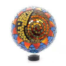 12 Inch Glass Gazing Balls Home U0026 Garden Sun Moon Mosaic Globe Gazing Ball Sbkgifts Com