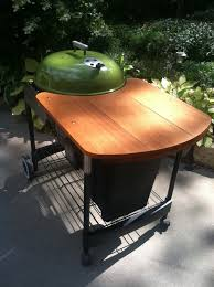 how to build a weber grill table weber crate barrel performer wooden table mod